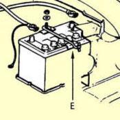 E. Battery Tray Clip