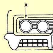 A-1. Headlamp Trim-Ring Weatherstrip-Seal Set