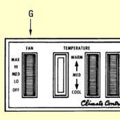 G. Heater & A/C Fan Blower Switch
