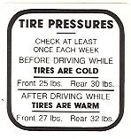 Tire Pressure Decal