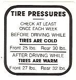 Buick Tire Pressure Decals